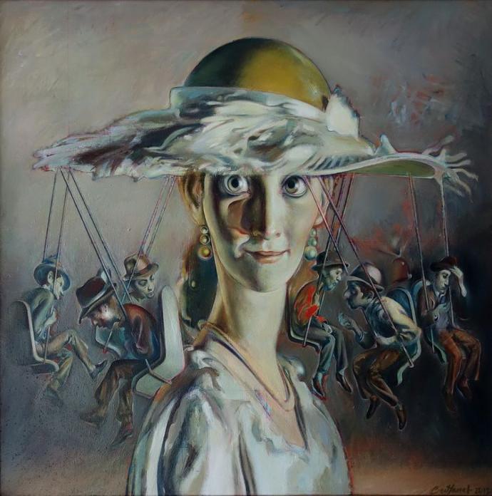 Caruselul - Merry-Go-Round, 2012, oil on canvas, 70x70cm