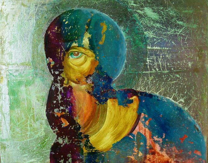 ELENA JIANU - privirea-the look, tm 70x83 cm