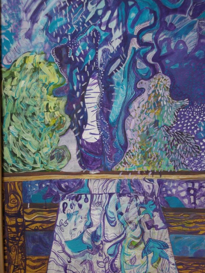 Gradina-The Garden - 80-60. Acrylic-Panza.Acrylic -Canvas.2012
