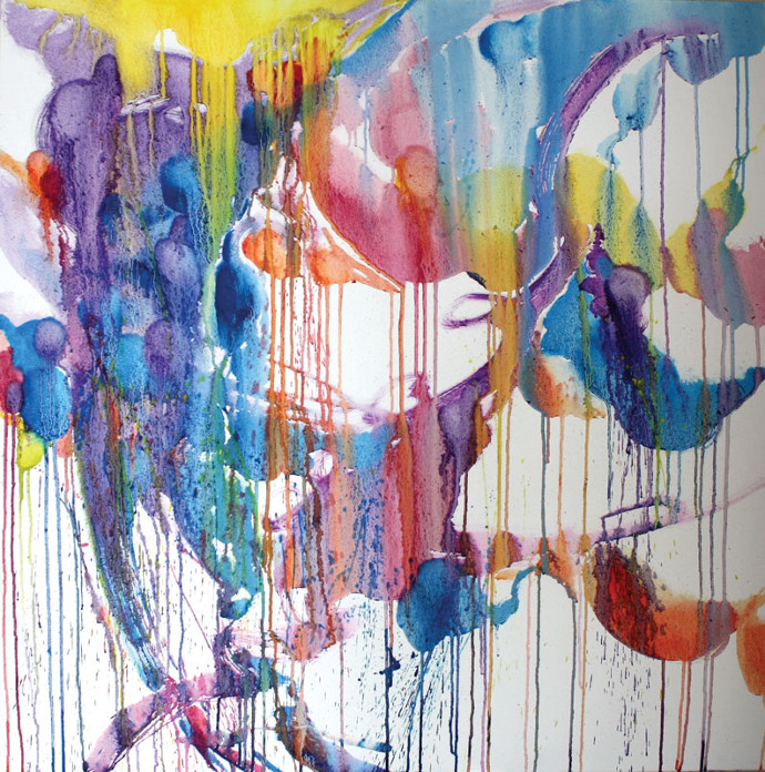 Nicole Bartos, Capturing Threads of Light, 2010, oil on canvas