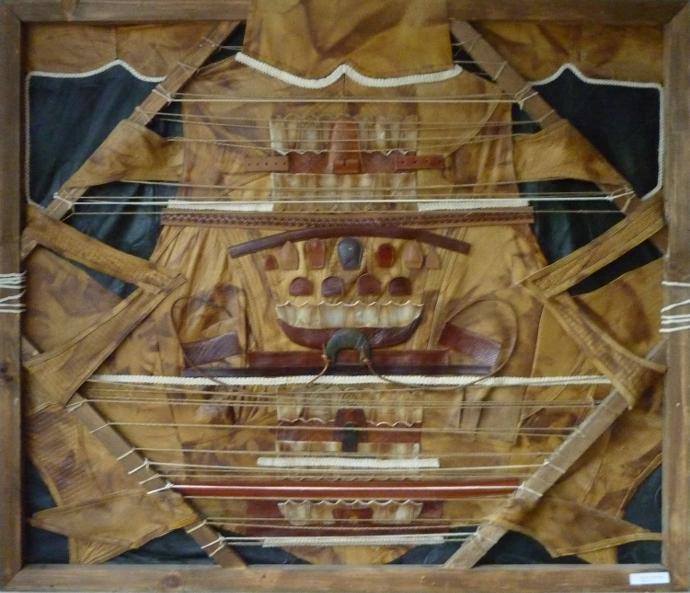 OFRANDA-colaj textil, 100-120cm