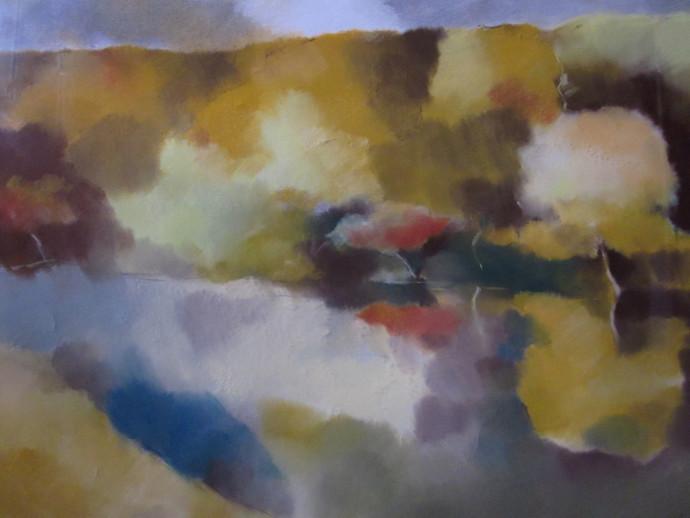 OGLINDIRE,  60x46 cm,  PASTEL PE CARTON, TITLE REFLECTION, 60x40 cm,  PASTEL ON CARDBOARD