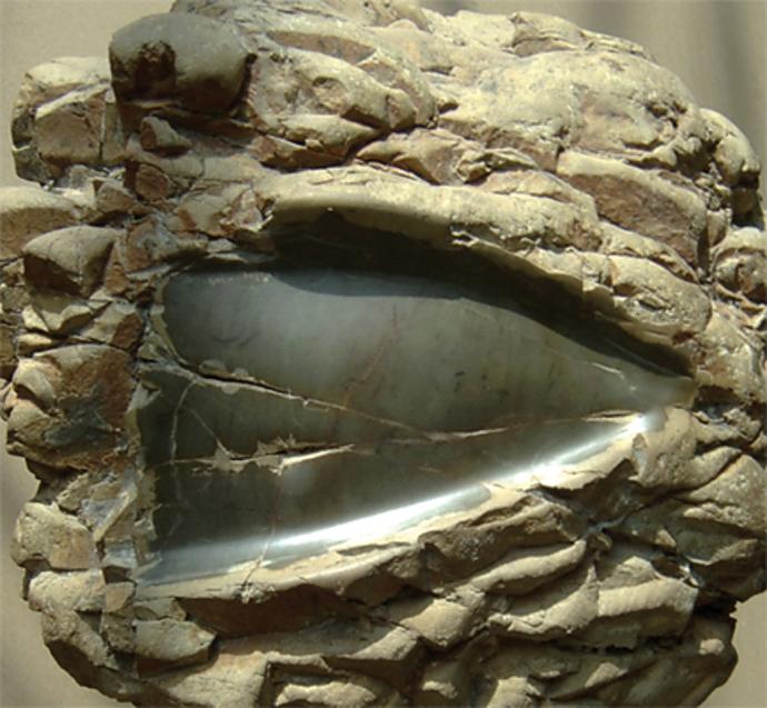 Oglinda zilei de ieri, piatra, 20x20x10 cm.Yesterday's mirror, stone, 20x20x10 cm