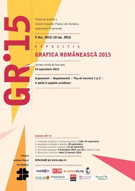 Artiști selecționați pentru Grafica Românească 2015