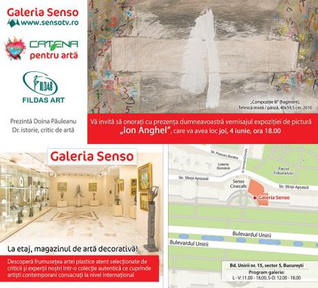 INVITATIE expozitie ION ANGHEL laGaleria SENSO