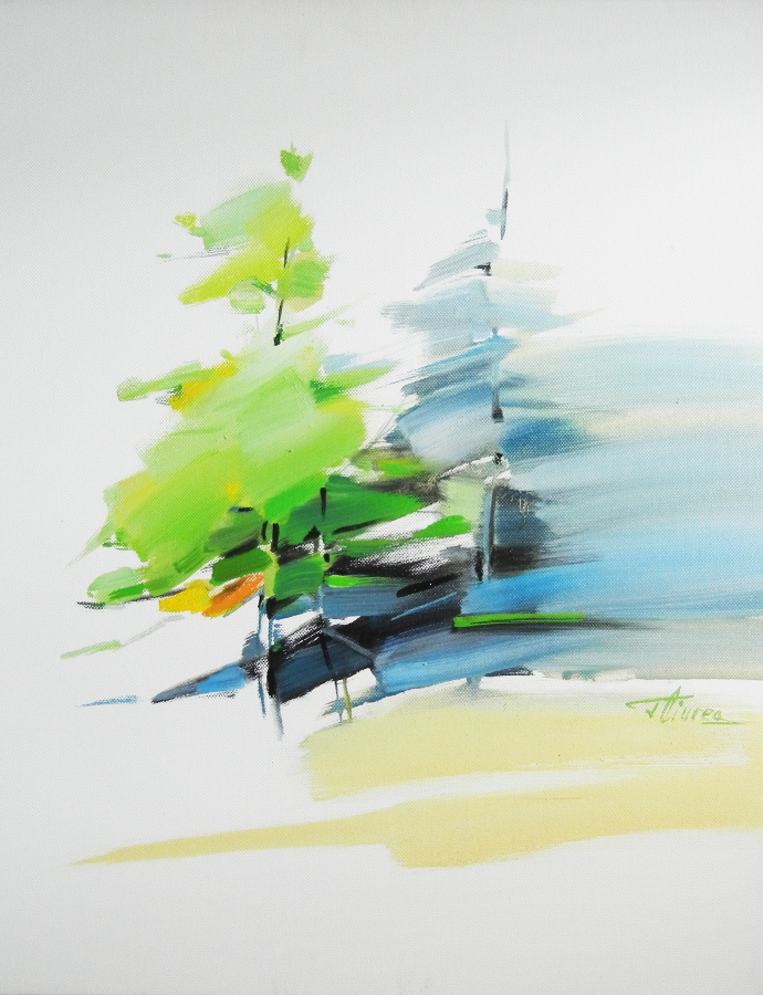 Fuga-50x40-tempera pe panza-The running-50x40-tempera on canvas