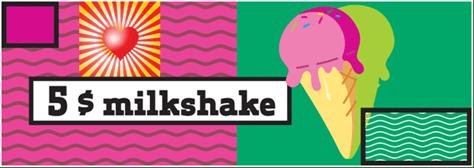 5$ milkshake @ București